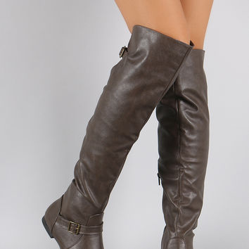 Bamboo Slouchy Over the Knee Boots