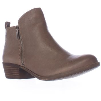 Lucky Brand Basel Side Zip Ankle Boots, Brindle, 6 US / 36 EU