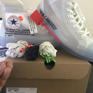 Size 8.5 off-white x converse chuck taylor all star AUTHENTIC FREE SHIPPING