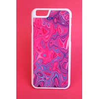 Neon Pink and Purple Color Warped Phone Case