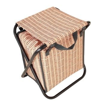 Perfect Faux Wicker Basket Cooler Stool Bag