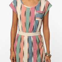 Ecote Ikat Side-Button Dress