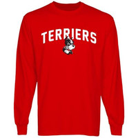 Boston University Mascot Logo Long Sleeve T-Shirt - Scarlet