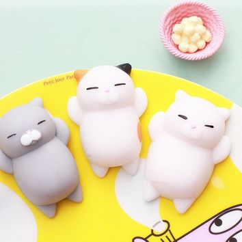 Hot sales 40 Style Novelty Squishy Animal Seal Fun Anti Stress Emotion Vent Ball Resin Christmas Birthday Gift for kids