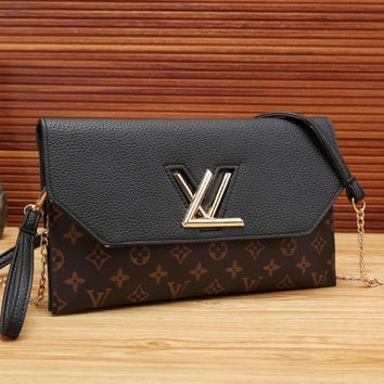 LV Women Shopping Leather Satchel Shoulder Bag Crossbody