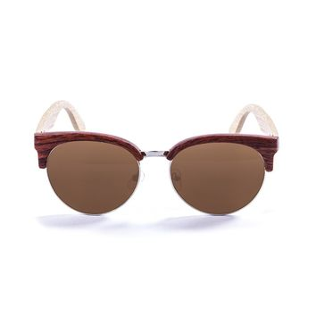 Unisex Ocean Sunglasses MEDANO Brown Bamboo Sunglasses