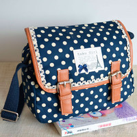 Cool Nice Lace Polka-dot Messenger Bag
