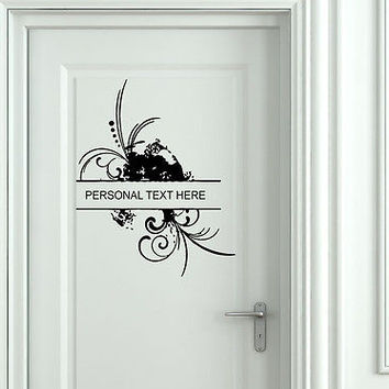 Wall Mural Vinyl Decal Sticker Sign Door Frame Personalized Text Name AL268