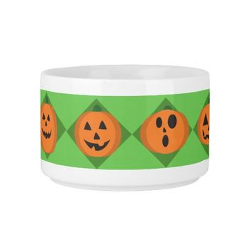 Halloween Pumpkins Chili Bowl