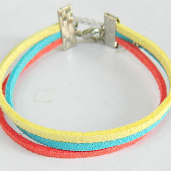 Adjustable simple  Colorful Bracelet