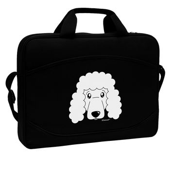 "Cute Poodle Dog - White 15"" Dark Laptop / Tablet Case Bag by TooLoud"