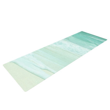 "Monika Strigel ""Paradise Beach Mint"" Teal Green Yoga Mat"