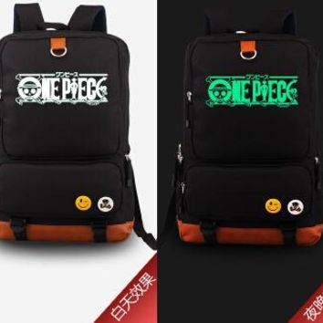 Japanese Anime Bag 2018  One Piece Luffy Luminous Laptop Backpacks Bags Cosplay Printing Unisex Backpack School Bags AT_59_4