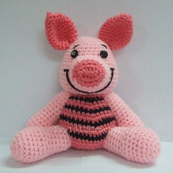 Piglet - Finished Handmade Winnie the Pooh Amigurumi crochet doll Home decor birthday gift Baby shower toy
