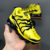 Nike Air VaporMax Plus Yellow Black Toddler Kid Running Shoes Child Sneakers