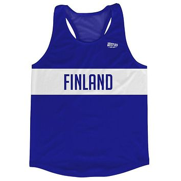Finland Country Finish Line Running Tank Top Racerback Track and Cross Country Singlet Jersey