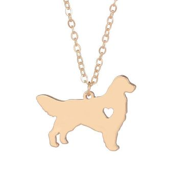 Golden Retriever Dog Necklace Choker Pendant For Men and Women