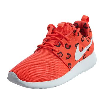 Nike Roshe Run Print Leopard Crimson Hot Womens Style :599432
