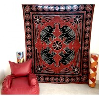 Big Elephant Indian Mandala Tapestry Wall Hanging Dorm Decor Hippie Home Decor