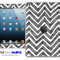 New iPad Mini Skin Chevron Pattern Sketch LONG LASTING Decal
