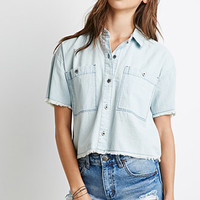 Frayed Chambray Shirt