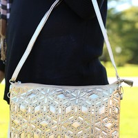Putting On The Glitz Clutch in Gold