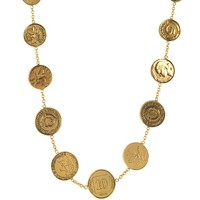 Alcozer & J Brass Coin Necklace
