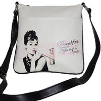 White Licensed Breakfast at Tiffany Messenger Bag