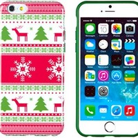 "iPhone 6 Case, DandyCase PERFECT PATTERN *No Chip/No Peel* Flexible Slim Case Cover for Apple iPhone 6 (4.7"" screen) - LIFETIME WARRANTY [Vintage Christmas ]"