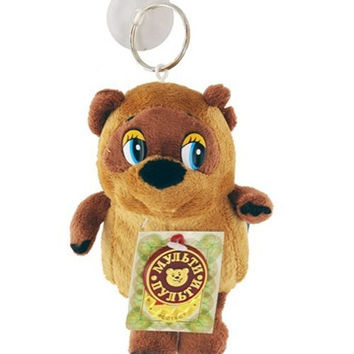 Winnie Pooh Russian Toon Character Soft Plush Toy Small Backpack Clip
