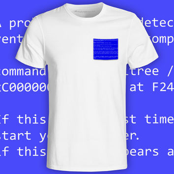 BSOD White Pocket Tee