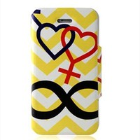 Heart Print Phone Case for iPhone 4/4s from perfectmall