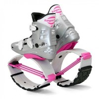 Kangoo Jumps KJXR3 White Edition,Silver/Pink,Size M,Womens 7,8,9-Mens 6,7,8