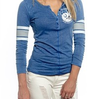 Indianapolis Colts Womens Vintage Raglan Top | SportyThreads.com