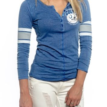 Indianapolis Colts Womens Vintage Raglan Top   SportyThreads.com