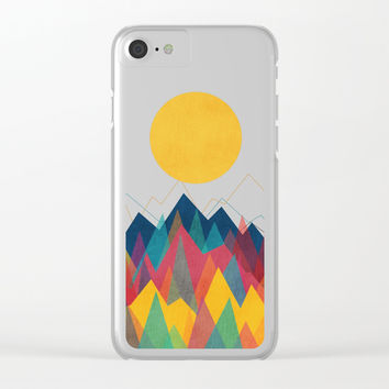 Uphill Battle Clear iPhone Case by Picomodi