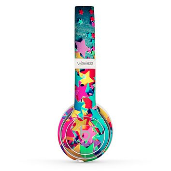 The Collage of Colorful Stars Skin Set for the Beats by Dre Solo 2 Wireless Headphones