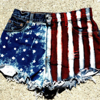 American Flag High Waisted Jean Shorts (Get Yours In Time For The Olympics)