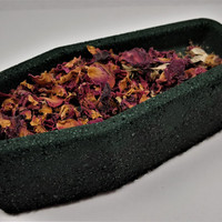 Cemetery Gates Rose Coffin Bath Bombs with REAL Dried Roses!