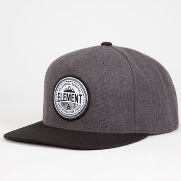 Element Trailblazer Mens Snapback Hat Charcoal One Size For Men 25168111001