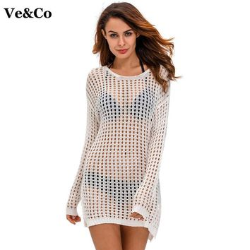 Pareo Beach Wear Sexy Cover Up Hollow Cotton Beach Cover Ups Swimwear Women Robe De Plage 2018 Summer Swimsuit White Beach Dress