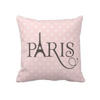 Fancy Paris Throw Pillows from Zazzle.com