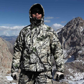 New Bionic Camouflage Winter Lighweight Field Coat with Liner Camo Parkas for Hunting and Outdoor