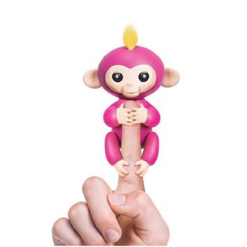 6 Color Fingerlings monkey unicorn Toys Smart Interactive Monkeys colorful fingers llings Smart induction toys pet anime figure