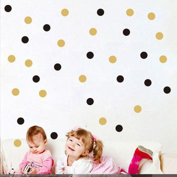 Nordic style Dots Wall Sticker Home Decor Cartoon Vinyl Wall Stickers For Kids Room Nursery Baby Wall Decals Girl Boy Bedroom