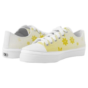 Sunshine Flowers n Butterflies Printed Shoes