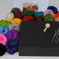 Needle felting kit - with Handle