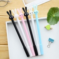 ICIK272 4Pcs/Lot New Cute Rabbit Gel Pen Writing Pens Stationery Caneta Material Escolar Office School Supplies Papelaria