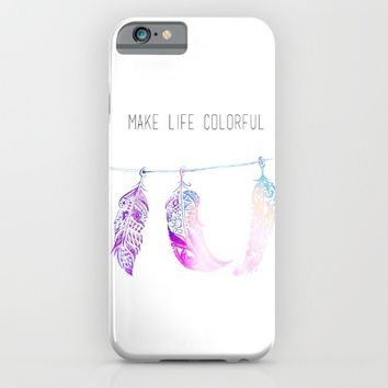 Triple Feathers iPhone & iPod Case by DEPPO