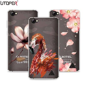UTOPER Case For Oukitel C5 Pro Case Silicone Soft TPU Fashion Flower Printed Shell For Oukitel C5 Pro Cover Shockproof Back Capa